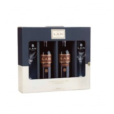 Estuche 2 Botellas LAN Reserva 2012 + 2 copas