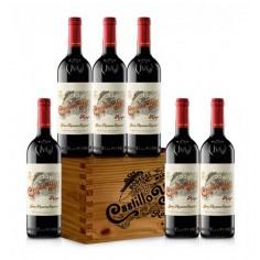 Wooden Box with 6 bottles of Castillo de Ygay Gran Reseva 2009