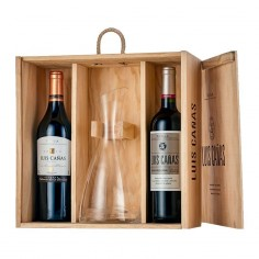 Woodcase with 2 bottles of...
