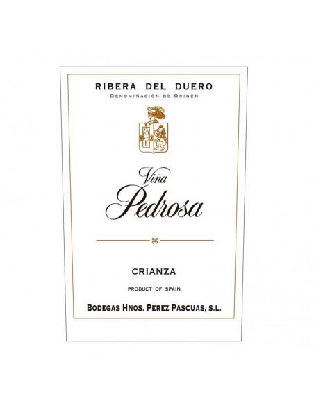Etiqueta del vino Viña Pedrosa Crianza