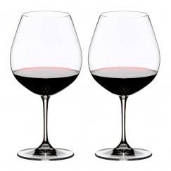 Copas de Vino Riedel Vinum Pinot Noir (Burgundy Red), Set de 2