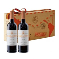 Bolsa Regalo con 2 botellas Marqués de Murrieta Reserva 2015