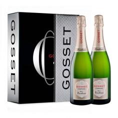 Estuche regalo con 2 botellas Champagne Gosset Excellence