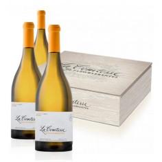 3 botellas de Albariño La Comtesse 2016 en Caja de Madera