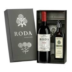 Estuche de regalo con Roda 2013 y Aceite de Oliva Virgen Extra L'Amo