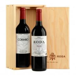 Roda 2013 y Corimbo 2013 en Caja de Madera Regalo