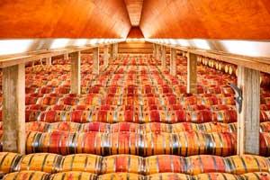 Más de 4.000 barricas de roble descansan en la sala de crianza de la Bodega Enate